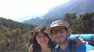 Primi panorami su Punta Mesco