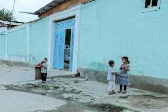 Bambini del quartiere ebraico di Samarcanda