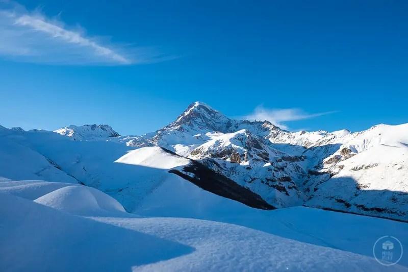Il Monte Kazbek, 5047m