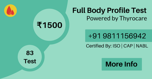 Full body profile test in delhi ncr, Full body checkup