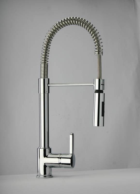 pull out spray kitchen faucet off white cabinets industrial tap (chrome) - 92cr557llpe