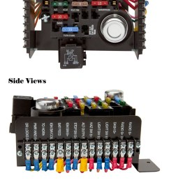 universal style pre wired 20 circuit fuse block painless performance painless wiring kits painless performance wiring diagram [ 818 x 1869 Pixel ]