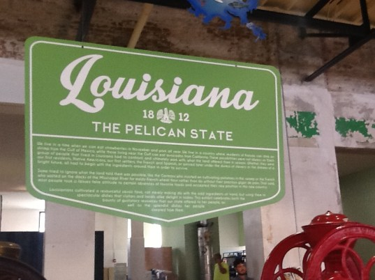Louisiana exhibit at the Southern Food and Beverage Museum