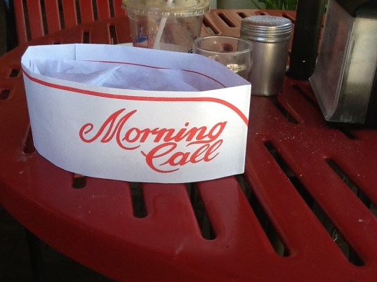 Morning Call Paper Cap