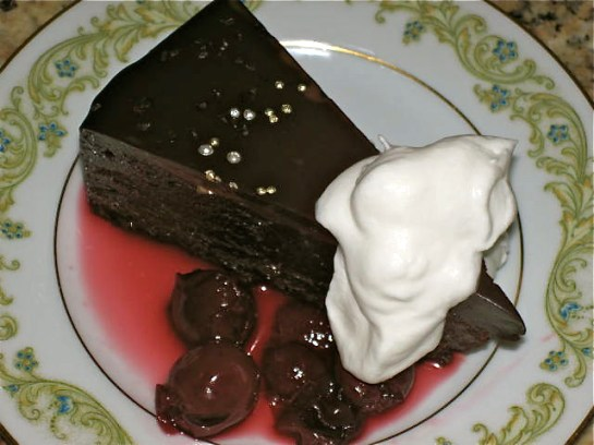 Chocolate Truffle Torte Slice