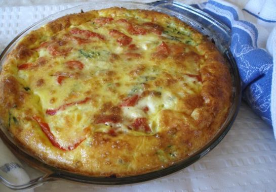 Zucchini and Roasted Pepper Frittata
