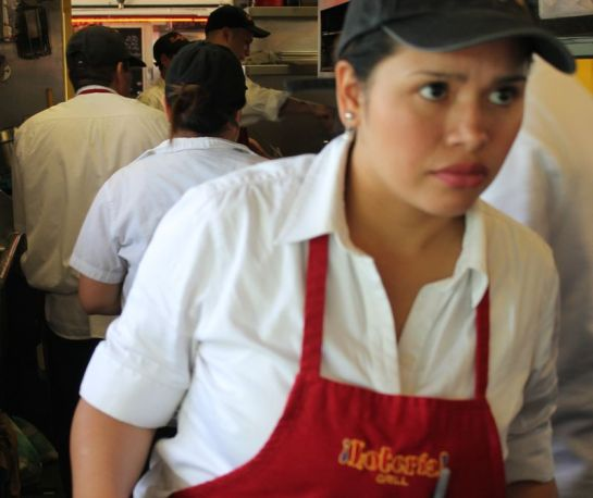 Ordering at Loteria Grill