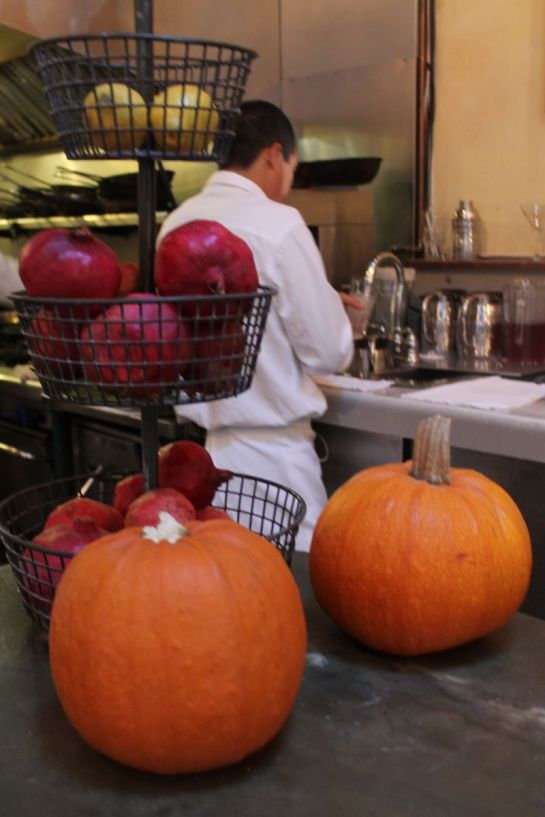 Pumpkins and Pomegranates on the bar