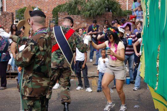 Dancing at the Mardi Gras!