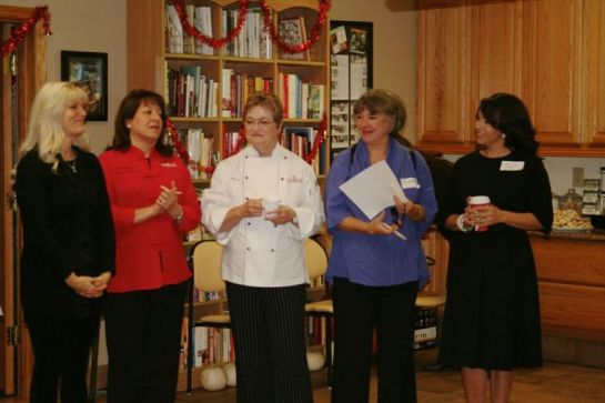 Sharon of Melissa's, Chef Ida, Cathy Thomas, Me and Louise Mellor