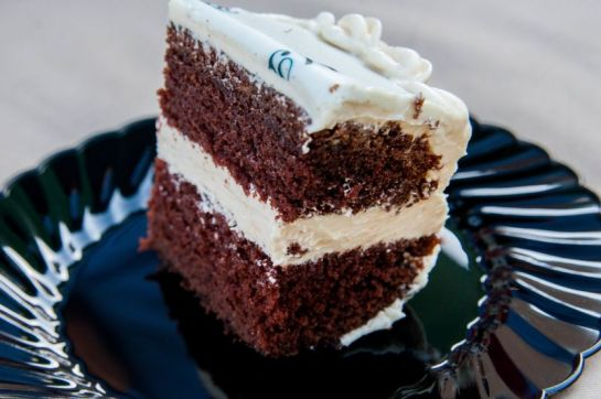 Mocha Fudge Cake with Sea Salt Caramel Icing