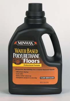 MINWAX 17777 SEMI GLOSS WATER BASE POLYURETHANE FOR FLOORS