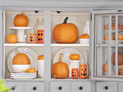 Jack-O-Lantern Jar Craft