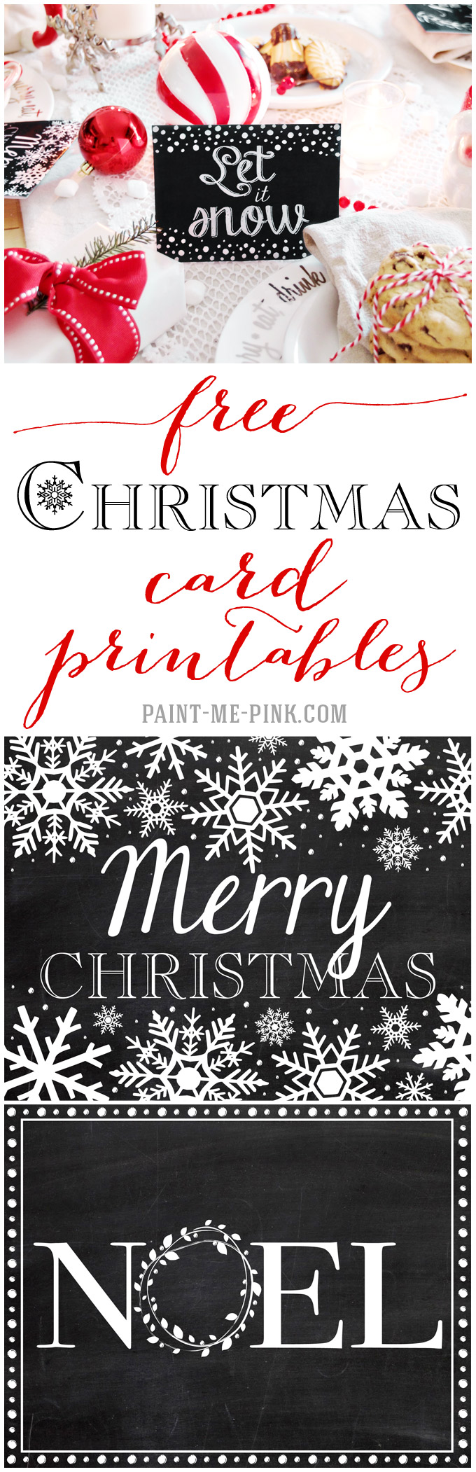 free printable christmas placecards - paint me pink