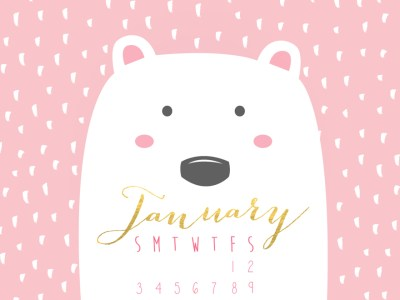Free January Desktop Calendar