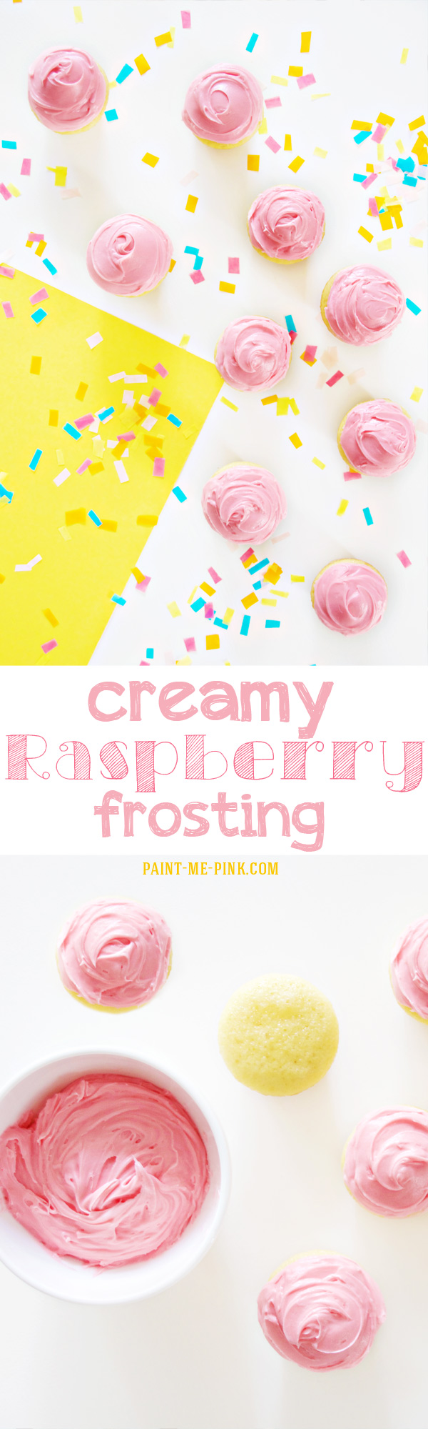 Creamy Raspberry Frosting! Paint Me Pink.com