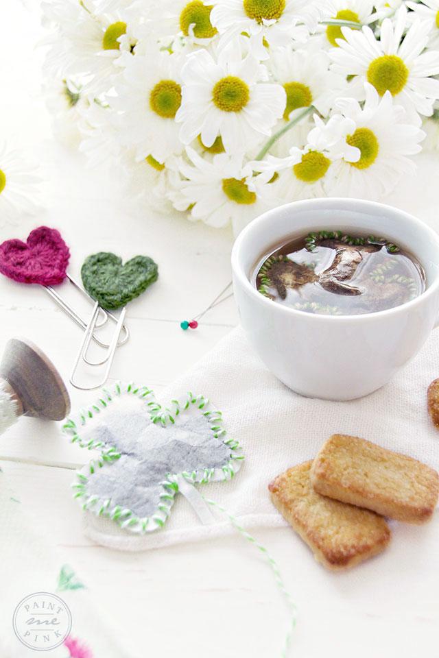St. Patricks Day Three Leaf Clover Tea Bag DIY