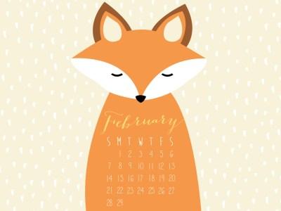 Free February Desktop Calendar