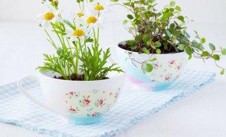Decorative Tissue Paper Tea Cups