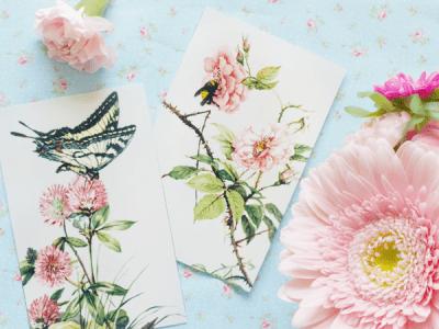 Vintage Butterflies Spring Printables