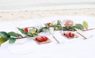A Simple Beach Picnic Setting