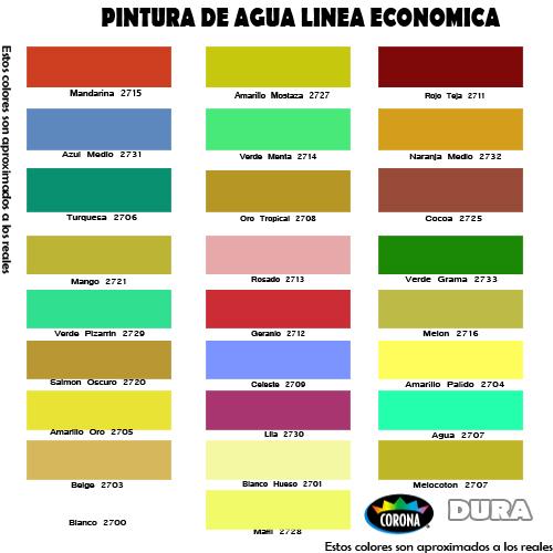 Cartilla de Colores Corona