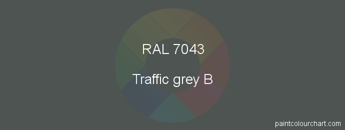 RAL 7043 : Painting RAL 7043 (Traffic grey B)   PaintColourChart.com