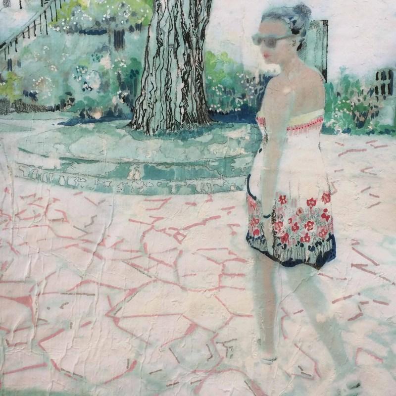 'Fleeting glance' . Framed 46cm x 36cm