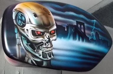 2014 Harley Davidson Breakout CVO with airbrushed