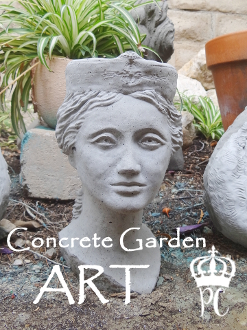 New Concrete Garden Art at Painted Cottage | Painted Cottage