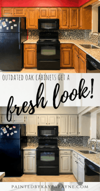 Outdated Oak Cabinets Get a Fresh Look- Painted by Kayla Payne