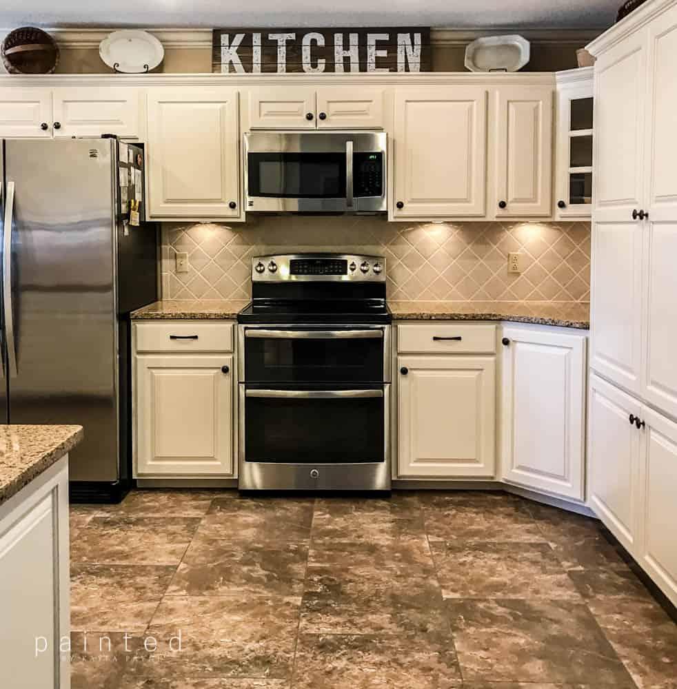 Bye Bye Honey Oak Cabinets Hello Brighter Kitchen