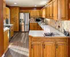 Honey oak kitchen cabinets 05   Painted by Kayla Payne