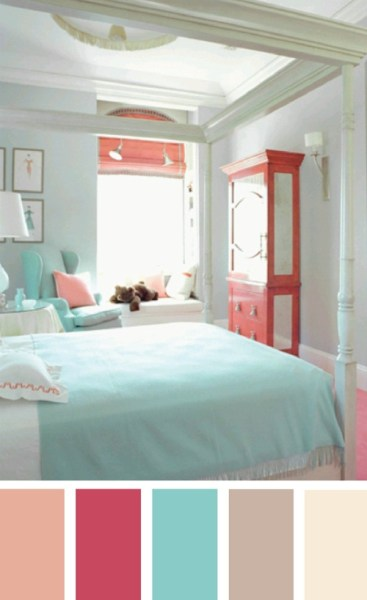 pastel color scheme bedroom springcolors