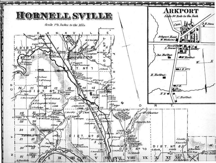 1873 HORNELLSVILLE PROPERTY MAP