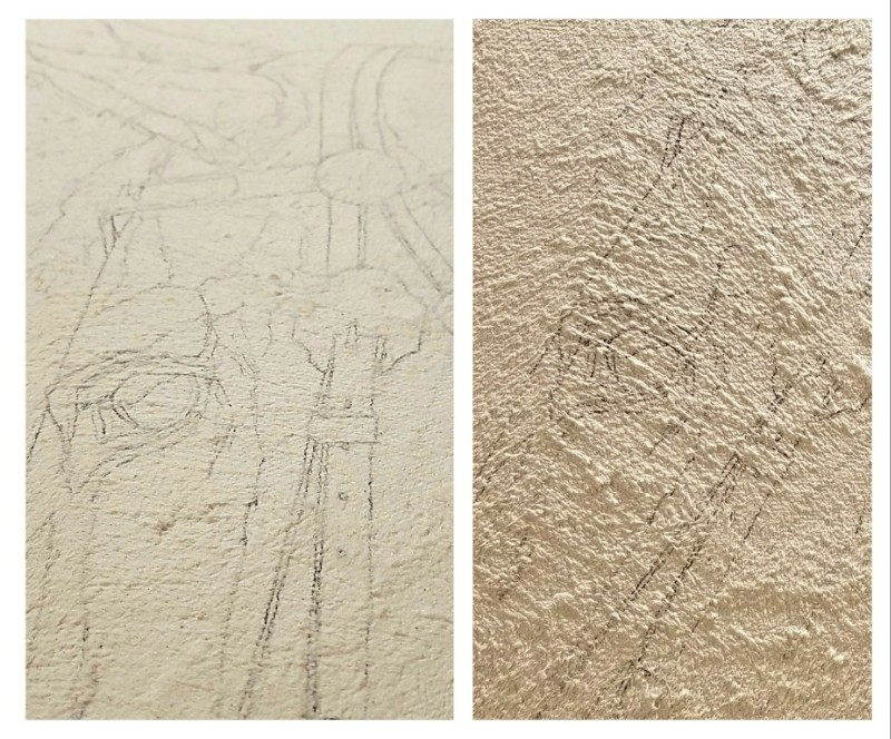 Textured canvas, ready for paint