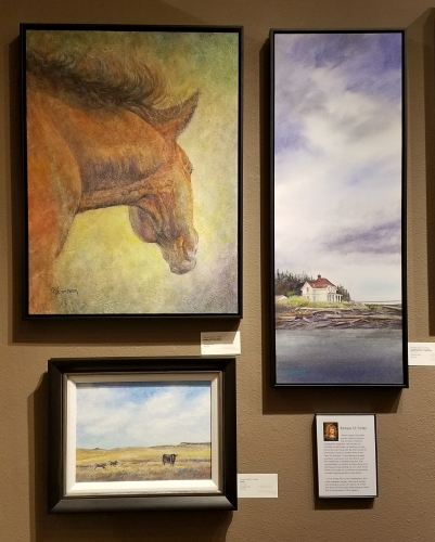 watercolors by Renee St. Peter at Parklane Gallery