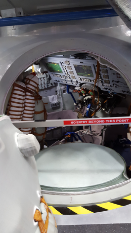 Interior of Soyuz spacecraft training module, NASA Houston