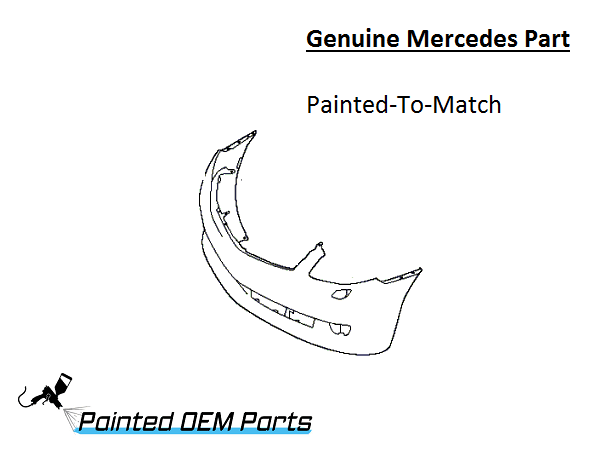 Painted Mercedes CL Class Genuine Factory/ OEM Front