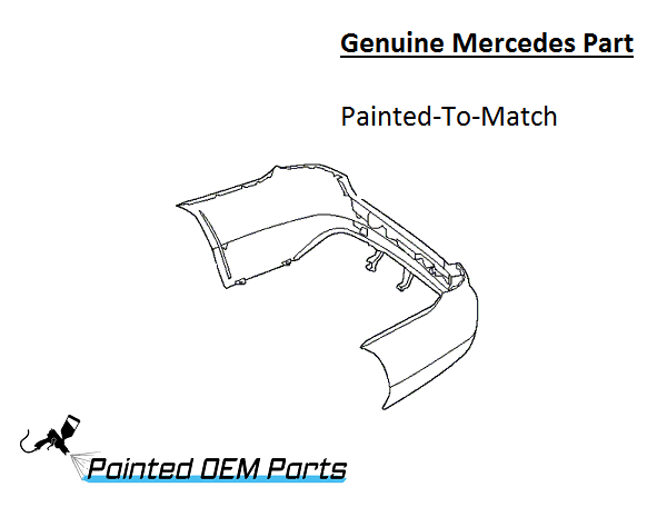 Painted Mercedes CLS Class Genuine Factory/ OEM Rear