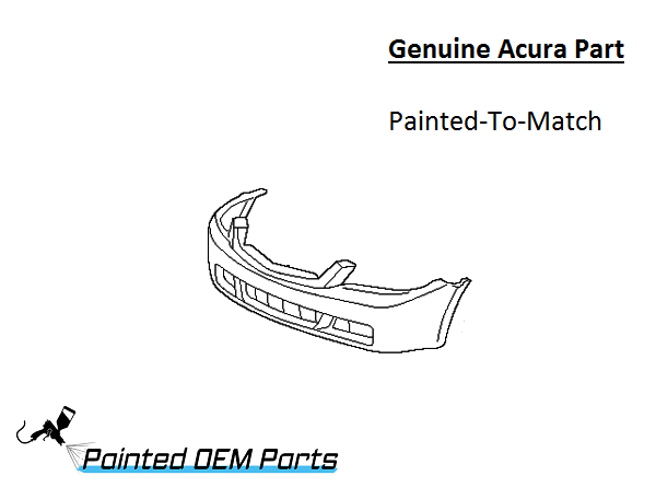 Painted Acura 2004-2008 TSX Genuine OEM Front Bumper Cover