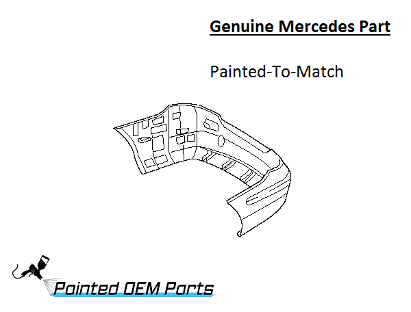 Painted Mercedes CLK Class AMG Genuine Factory/ OEM Rear