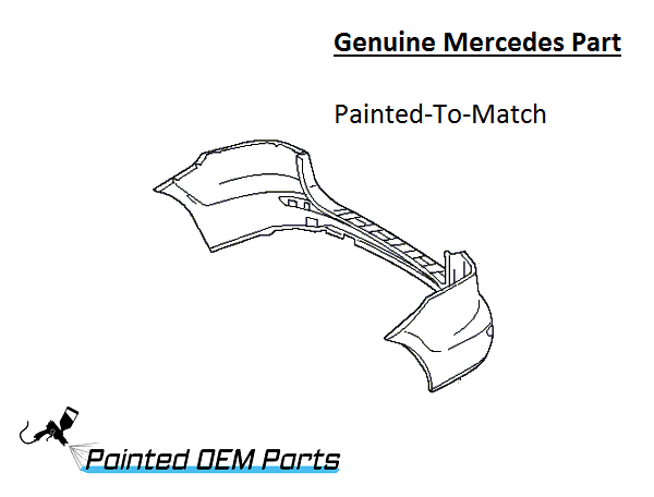 Painted Mercedes M ML Class AMG Genuine Factory/ OEM Rear