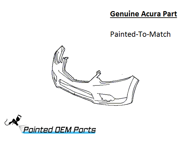 Painted 2009-2014 Acura TSX Genuine OEM Front Bumper Cover