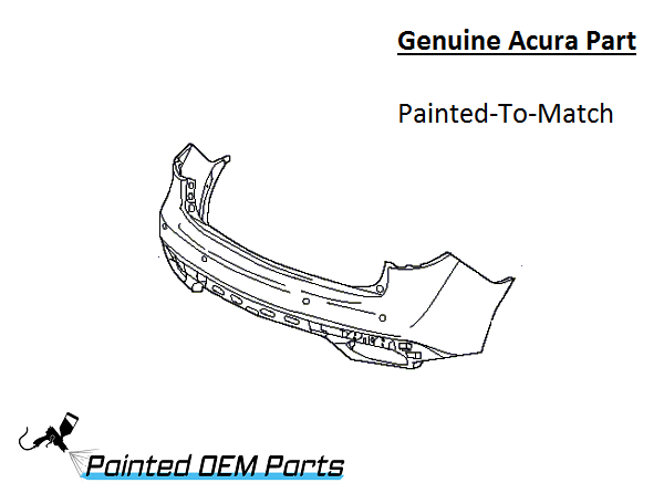 Painted 2014-2016 Acura MDX SUV Genuine OEM Rear Bumper Cover