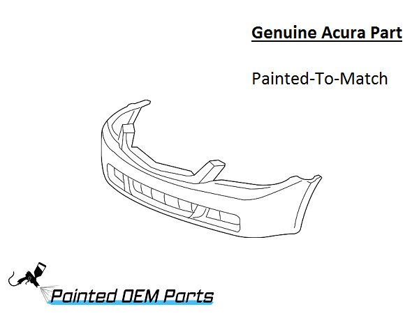 Painted 2006-2008 Acura TSX Genuine OEM Front Bumper Cover