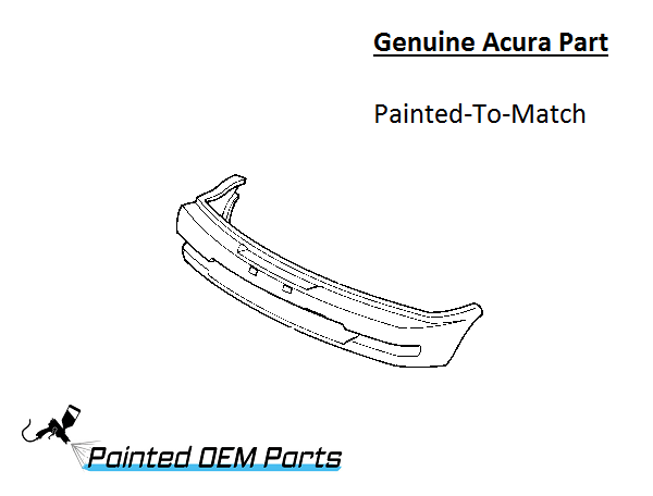 Painted 1995-1998 Acura TL Genuine OEM Front Bumper Cover