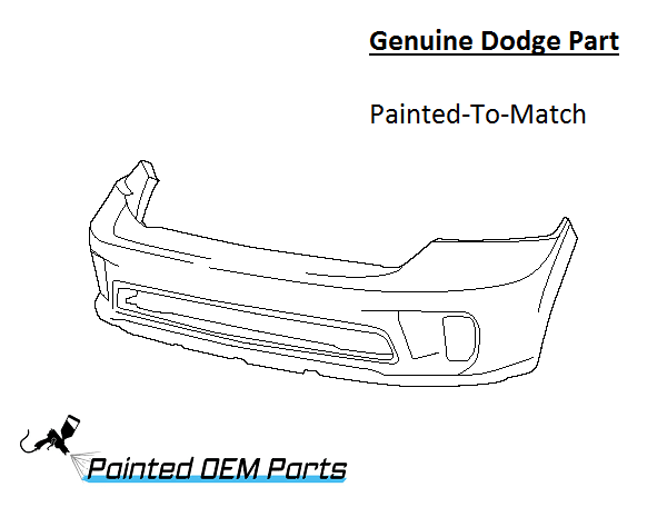 Painted Dodge Ram 1500 Genuine Factory/ OEM Front Bumper Cover