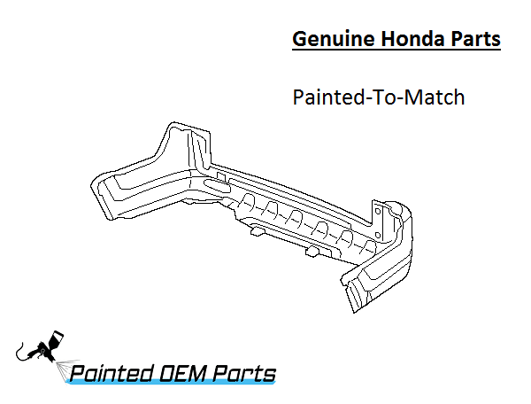 Painted Honda CR-V CRV Genuine Factory/ OEM Rear Bumper Cover