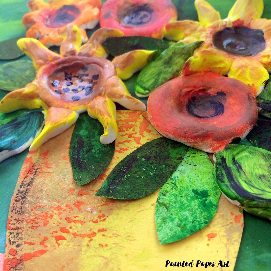 Clay Flower Bouquets – Painted Paper Art